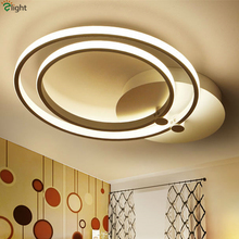 Stepless Dimmable Modern Double Rings Led Ceiling Light Minimalism Aluminium Luminaire Ceiling Lamp Indoor Lighting Fixtures