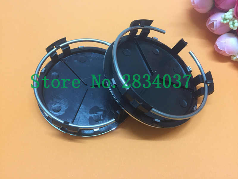 DHL 1000pcs 75mm Black/silver Car Wheel Center Caps Three-pointed star Wheel Cover Rims Cap For Mercedes A B C M R S ...