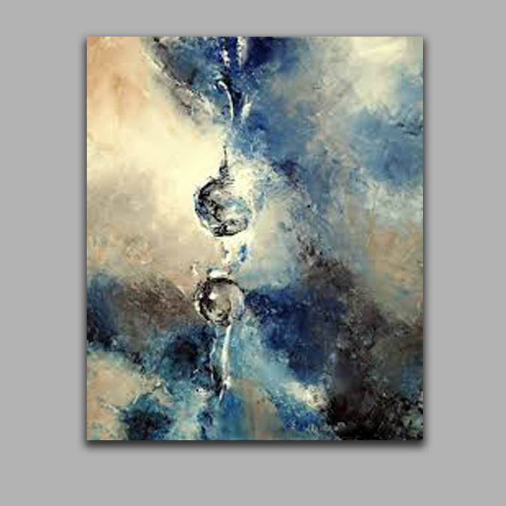 Abstract One Drop of Water Modern Wall Art High Q..