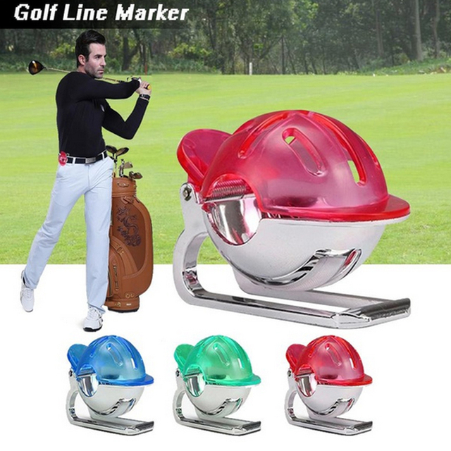 Golf Ball Line Liner Marker Clip Putting line with pen Ball Template Drawing Alignment Club Equipment training Accessories
