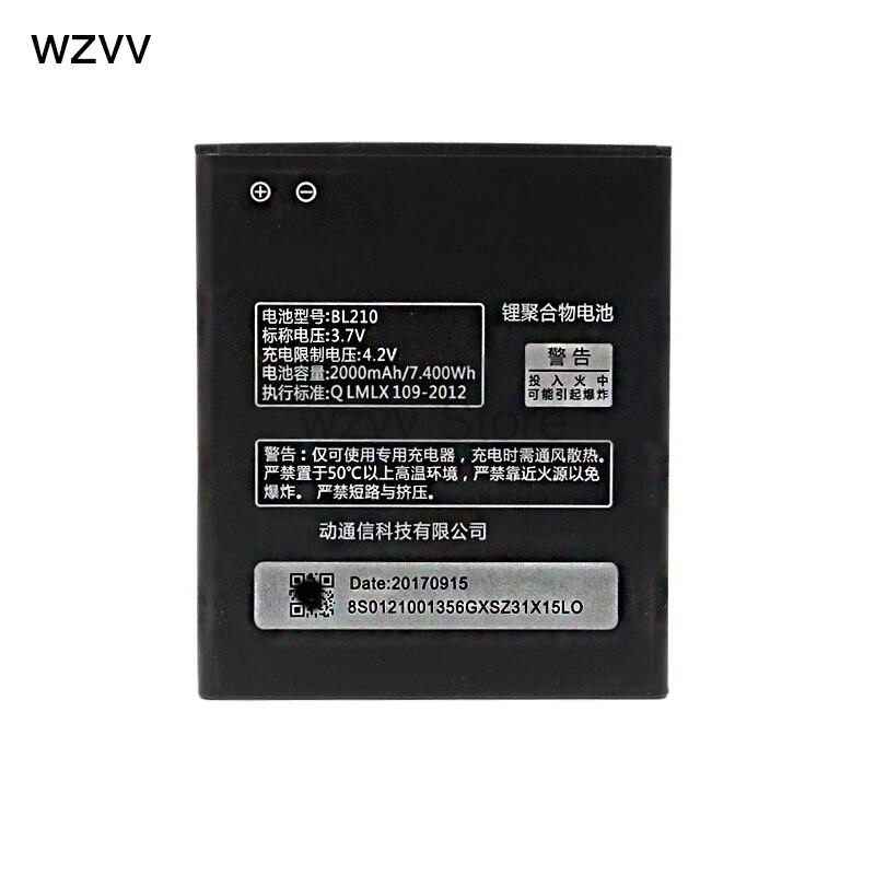 Wzvv Nouveau BL210 pour Lenovo A536 A606 S820 S820E A750E A770E A656 A766 A658T S650 Téléphone Remplacer batterie + Piste Code