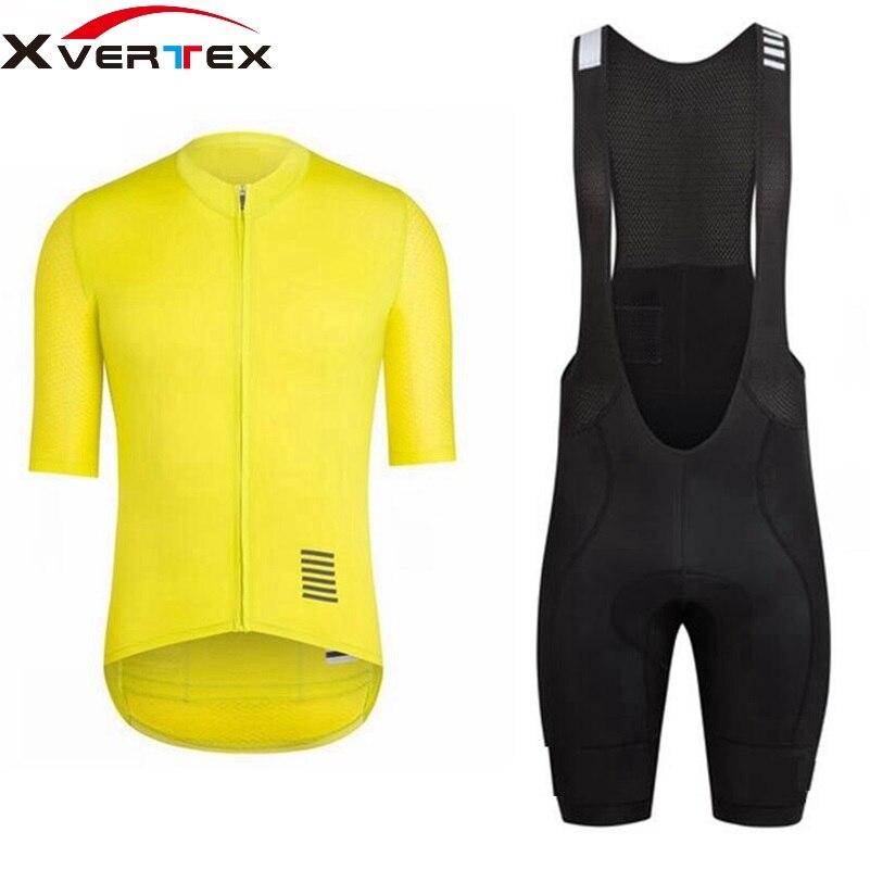 Цена за Велоспорт комплекты 2017 Классический Pro Team черный синий с коротким рукавом Джерси Дышащий задействуя Джерси и биб шорты костюмы ropa ciclismo