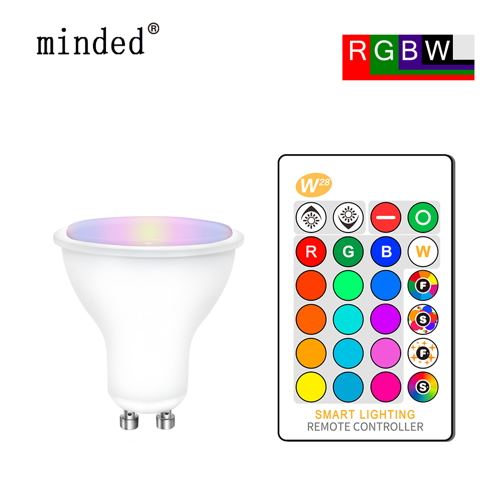 Led Bulb GU10 RGB Spotlight RGBW RGBWW Led Lampen 220V GU10 Rgb Led 8W Spot Light Bulbs 16colors With Remote Bombillas GU 10 ...