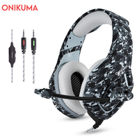 ONIKUMA K1 3.5mm Wire Gaming Headphones Stereo Game Earphones with Mic for PS4 Xbox Headset Computer Headphone