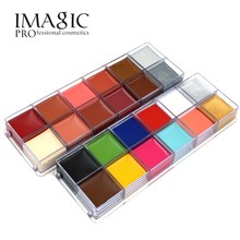 12 colors Tattoo Face Oil Painting Art Halloween Party Dress Beauty Makeup Body Paint Beginner Easy on the makeup tool by imagic