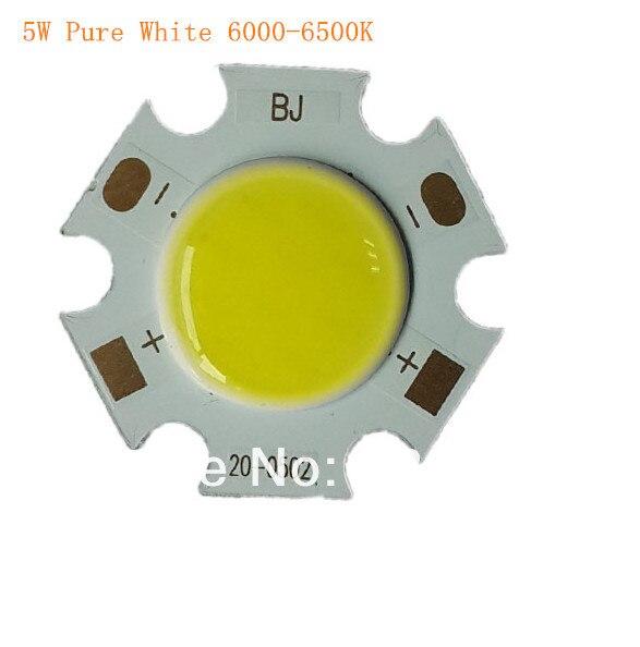 3W 5W 7W COB LED lamp Warm White 3000-3200K Pure white 6000-6500K surface light source 300mA  Sansn Chip