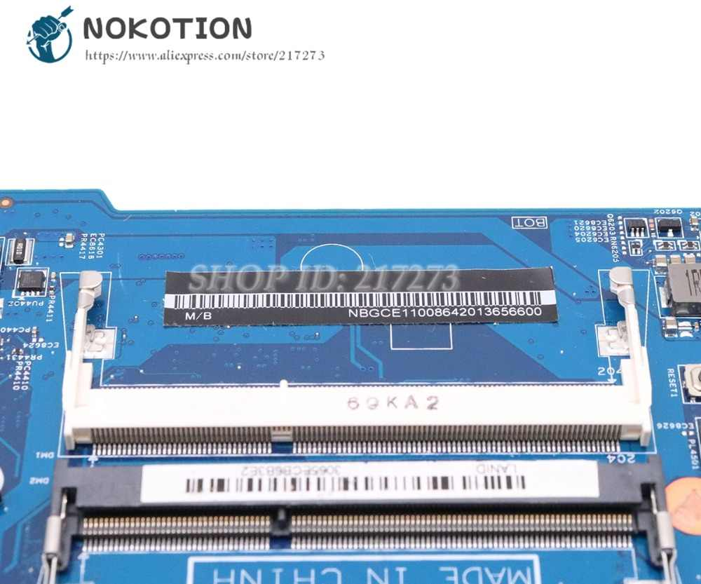 NOKOTION For Acer aspire ES1-571 Laptop Motherboard NBGCE11008 NBGCE11001  448 09002 001 SR27G I3-5005U CPU DDR3L