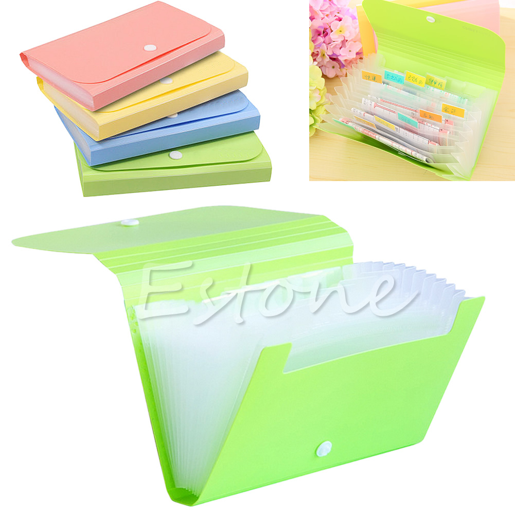 Plastic Bills Receipts File Document Case Bag Pouch Folder Card Holder Organizer Tool Bag Case G08 Great Value April 4