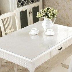 Marca pvc toalha de mesa transparente d' água à prova dand água e cozinha padrão óleo de vidro alta qualidade pano macio toalha 1.0mm