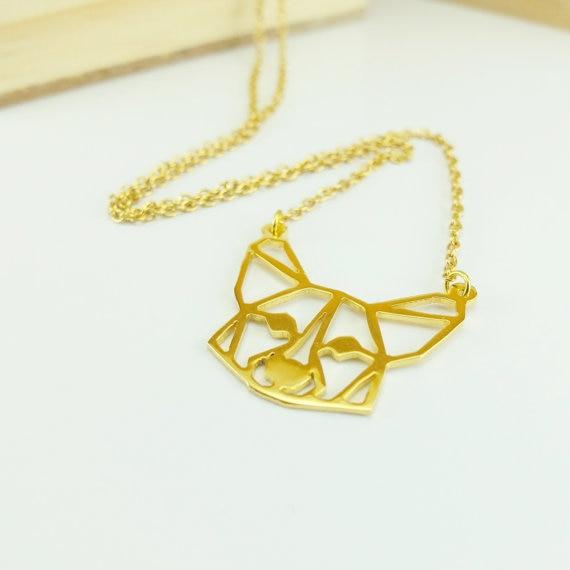 4dda3532e485 Moda al por mayor Corgi collar mujeres origami declaración collar del Corgi  galés joyería kolye CS go collares