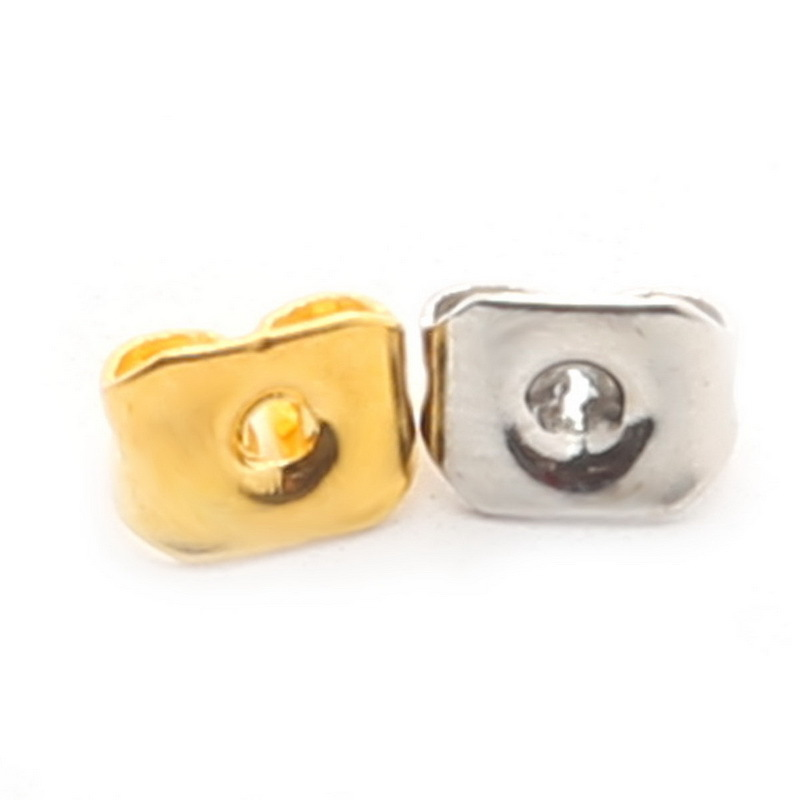 Wholesale 200pcs lot Metal earring Stud Back Stopper Gold Rhodium ...