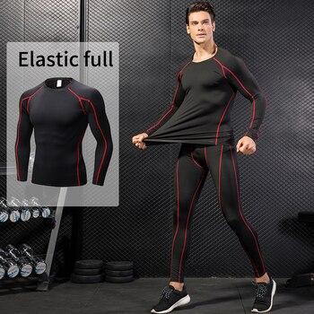 חדש מהיר יבש חולצות דחיסת כושר גרביונים ריצה T-חולצות כושר ספורט כדורסל גברים של חולצה פיתוח גוף Rashgard