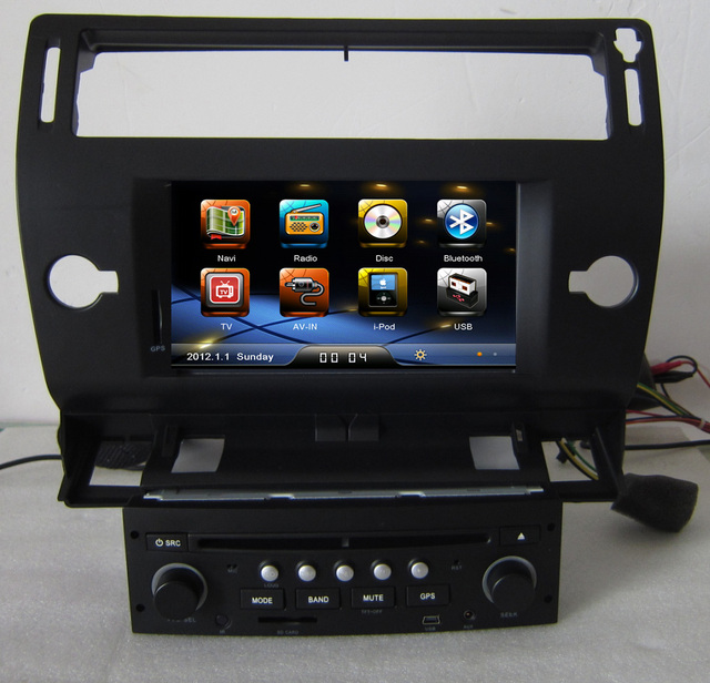 Black Color 2 Din Auto Radio Dvd Gps Navigation For