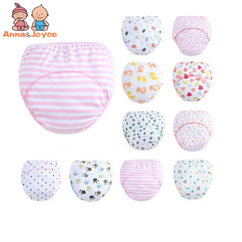 30 Pcs lot 3 Layers Baby Training Pants Learning Panties Infant Shorts Boy Girl Diapers Cotton