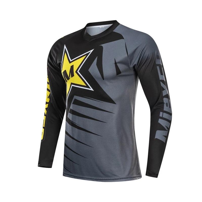 Men/'s Cycling Jersey Jacket MTB Bike Long Sleeve Tight Shirt Clothing Road Ride