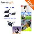 2016 V4 + 2 * V6 1200 M 3 Árbitros Hablar mismo tiempo para el Fútbol Árbitro Entrenador Auricular Judger Arbitraje Walkie Talkie Auricular
