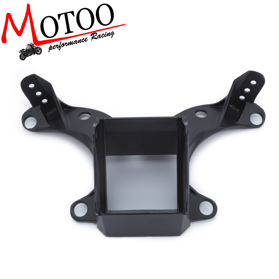 Motoo - Motorbike Upper Front Fairing Cowl Stay Headlight Bracket For Yamaha YZF R6 2006 2007 YZF R6S 2006 Light Holder upper fairing cowl headlight stay bracket for 2006 2007 yamaha yzf r6