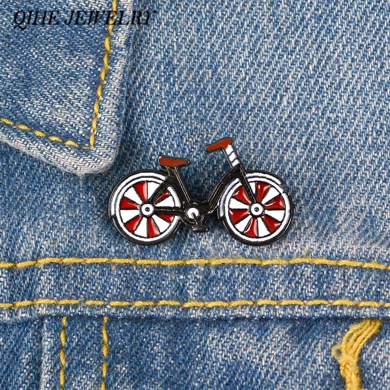 Детская красная велосипедная заколка, крутые винтажные значки для велосипедистов, спортивные заколки для лацканов, велосипедные ювелирные...