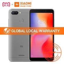 Küresel Sürüm Xiaomi Redmi 6 3 GB 32 GB 5.45 inç 18:9 Tam Ekran MTK Helio P22 Octa Çekirdek 12MP + 5MP Çift Kamera 3000 mAh Cep ...