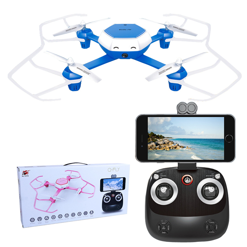 606 6W font b RC b font Drone with Camera HD 0 3MP WiFi FPV Drone