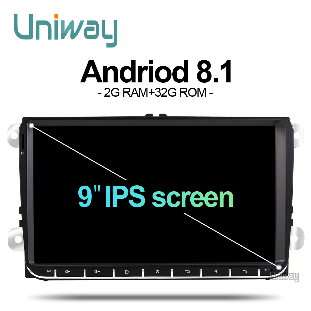 uniway ADZ9071 android 8 1 car dvd for vw passat b6 b7 golf 5 6 tiguan