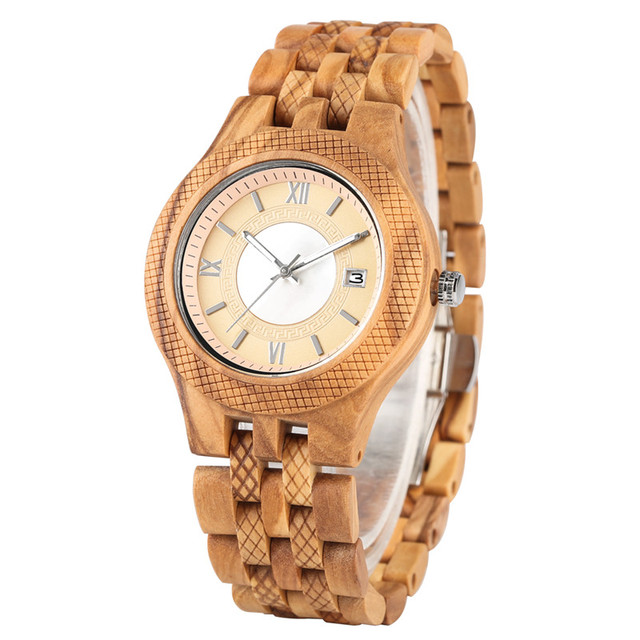 Quartz Watch Movement for Women Men Classic Practical Luminous Function Wooden Watches Elegant Calendar Wooden Wristwach | Fotoflaco.net