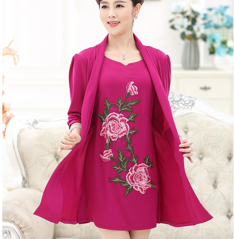 2015 Casual Dresess Women Vintage Flower Embroidery Loose Cotton Woman Dress Tunic Vestidos Festa Robe Femme Plus Size 4XL,XXXL