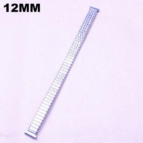 10 шт./лот Высокое качество 12 мм из нержавеющей стали часы полосы Эластичные часы ремешок-05133