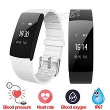 A89 смарт-браслет сердечного ритма Мониторы кислорода Приборы для измерения артериального давления Водонепроницаемый Шагомер напоминание запястье для Android IOS PK M2