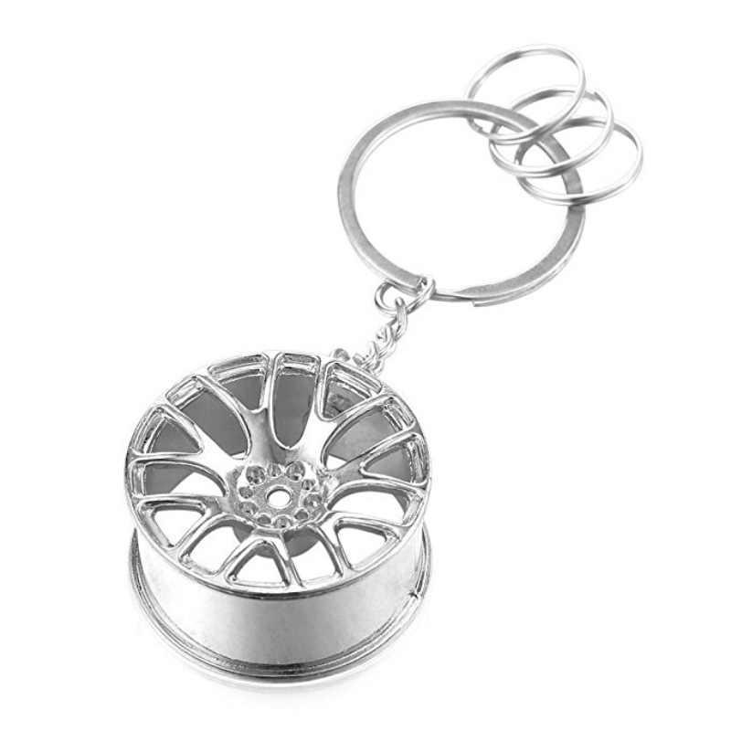 แหวนรอบออกแบบใหม่หรูหราโลหะพวงกุญแจรถ Key CHAIN Key Ring ล้อ HUB สำหรับชายหญิงของขวัญ 3 สี