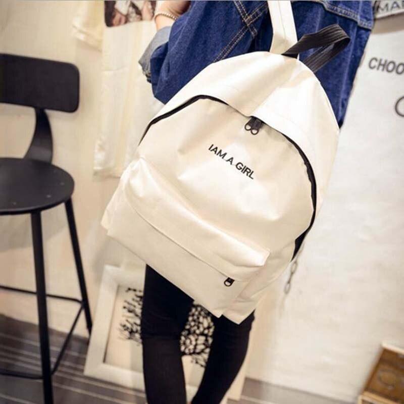 Zebella Simple Fashion Canvas Bag Female Korean Backpack For Women