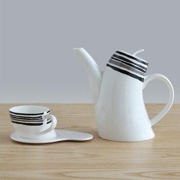 Bone China Teapot Sets Art Design Tea Pot Mug Drinkware Sets 1 Pot And 4 Mug Saucer