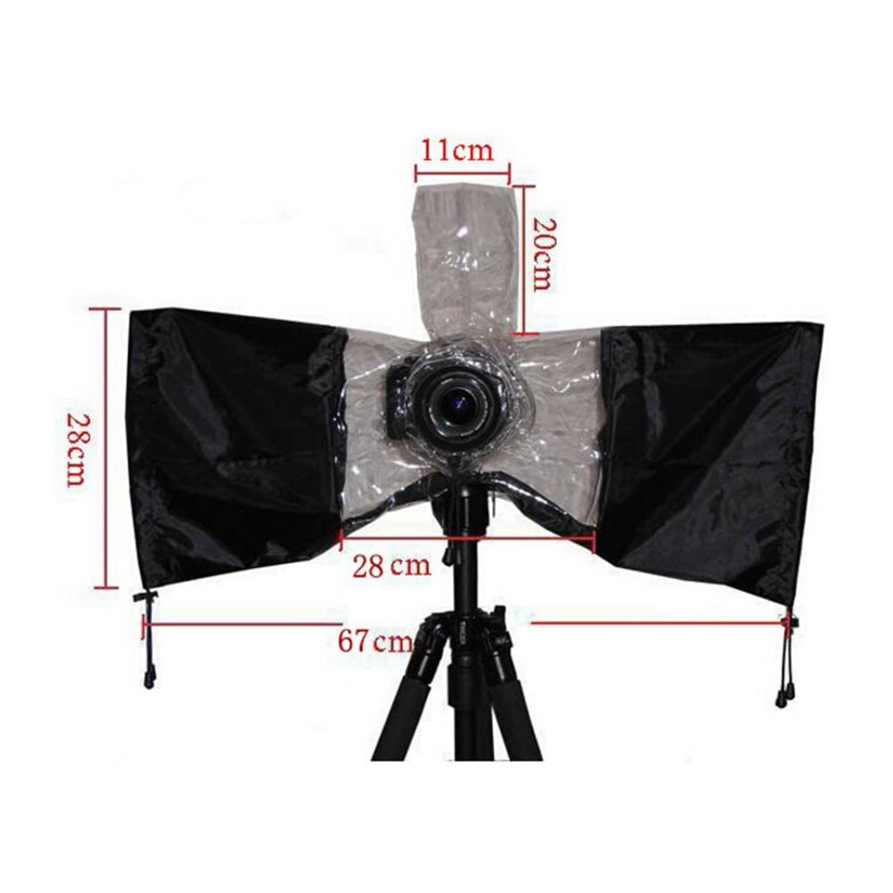 Consumer Electronics Waterproof Camera Protector Cover Anti-dust Rain Water Case Camera Rain Cover Raincoat Transparent Black For Canon Eos 7d 60d