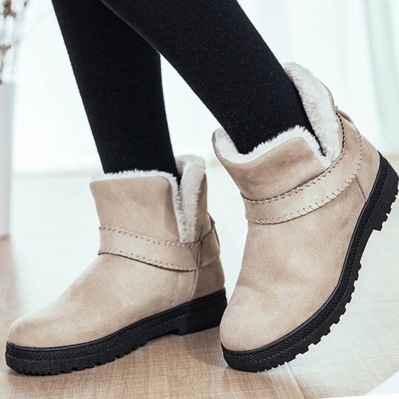 Women Boots Plus Size 43 Winter Shoes Women Super Warm Plush Snow Boots Ankle Boots For Women Booties Winter Botas Mujer Black women snow boots large size 35 45 winter boots shoes super warm plush ankle boots women platform winter boat fashion women shoes
