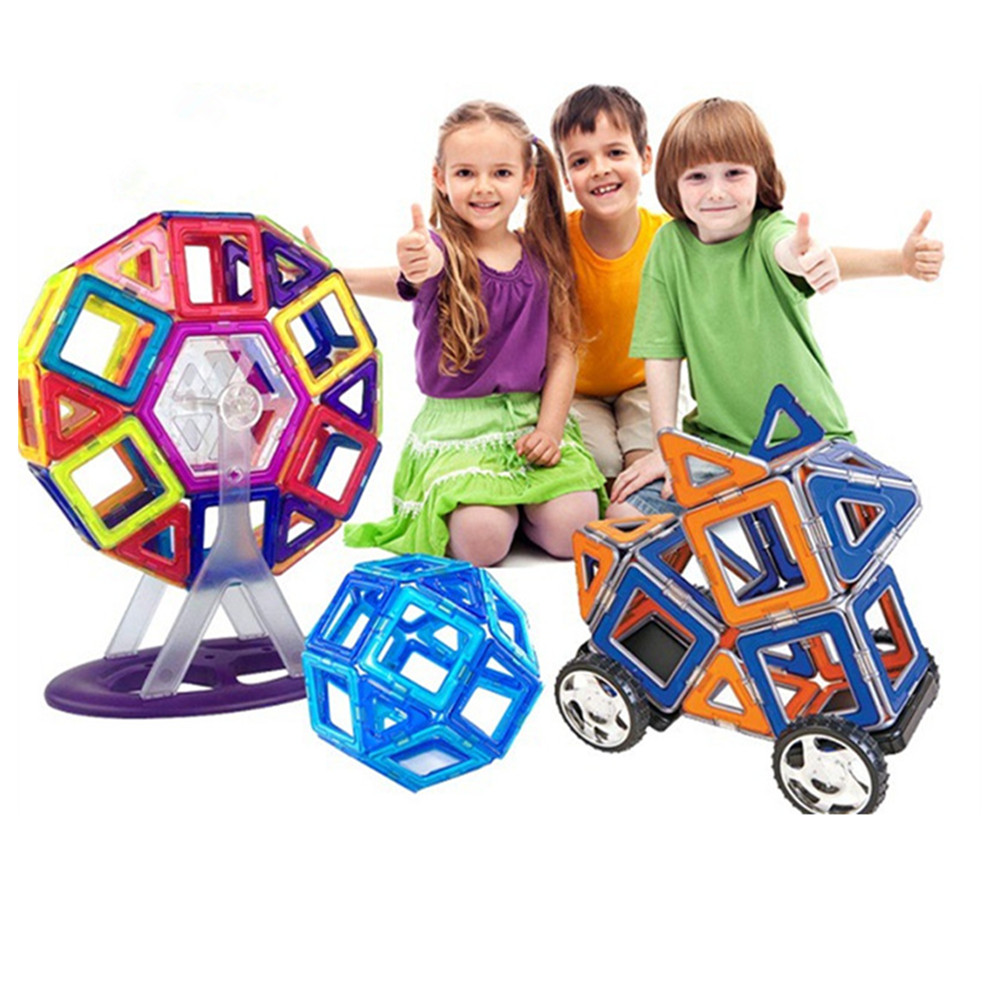 Kids Toy Bricks 91pcs Magnetic Building Toys 3D Diy Magformers Building Block For Children Gift Toys tri fidget hand spinner triangle metal finger focus toy adhd autism kids adult toys finger spinner toys gags