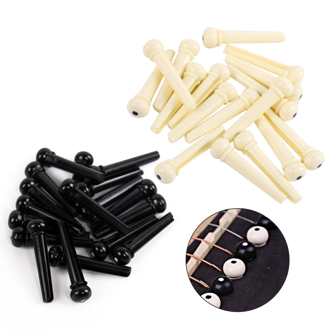 new 6pcs set classical style acoustic guitar bridge pin musical stringed instruments guitar. Black Bedroom Furniture Sets. Home Design Ideas