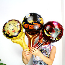 50PCS/LOT Halloween Hand Foil Balloons air-filled pumpkin stick cheering balloons For Party Supplies Decoration globos