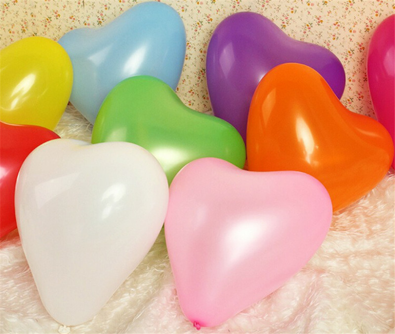 10Pc Love Heart Latex Helium Balloon For Wedding And Valentine Day Celebration 8