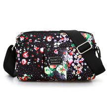 Floral Messenger Bag Cute Fashion Small Crossboyd For Women Chinese Style Flap Lady Nylon Leightweight vIntage Shoulder