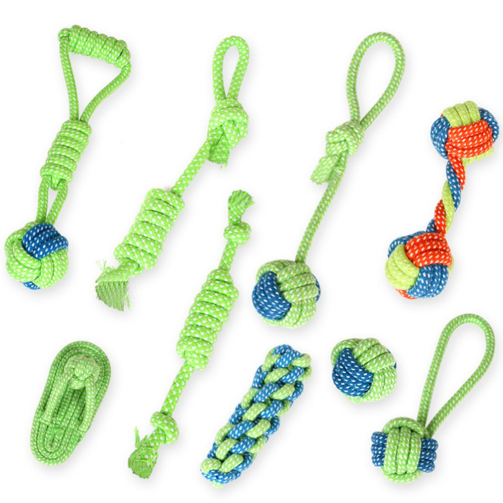 New Dog Chew Cotton Rope Toy For Dogs Outdoor Teeth Clean Dog Ball Rope Toys For Large Small Dogs Fun Interactive Toys