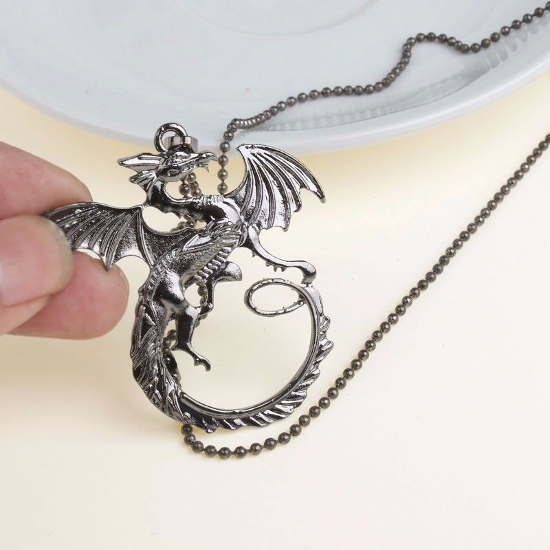 Haute qualité Collier Game Of Thrones Targaryen Dragon Badge Collier