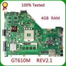 KEFU X55VD Pour ASUS X55VD mère d'ordinateur portable X55VD D'origine nouvelle DDR3 4G RAM rev2.1 Non-Intégré livraison gratuite 100% testé