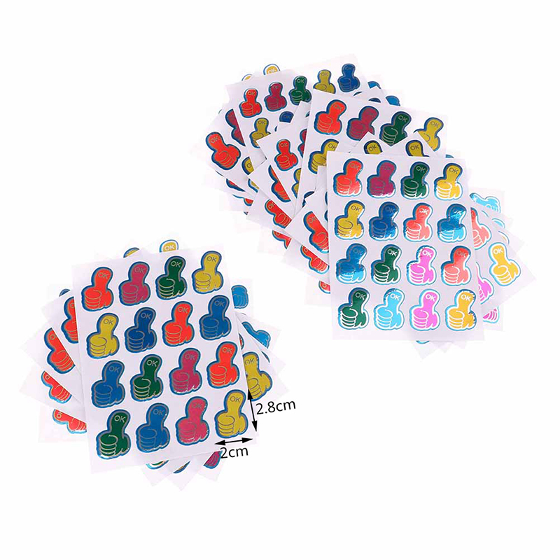 9.5cm Last Style Office & School Supplies 20pcs/lot Thumbs Ok Sticker Paper Children Stickers Thumbs Ok Stickers Teachers Reward Stickers 13