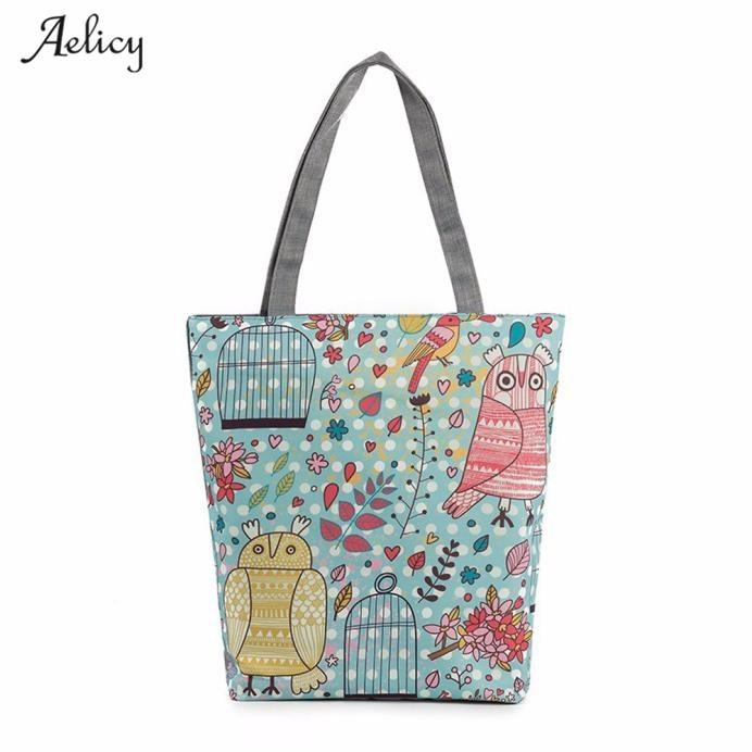 Girl Handbags Printing Canvas Tote Casual Beach Bags Shopping Bag For Women 2018 Bolsa Feminina Dropshipping HOT Selling