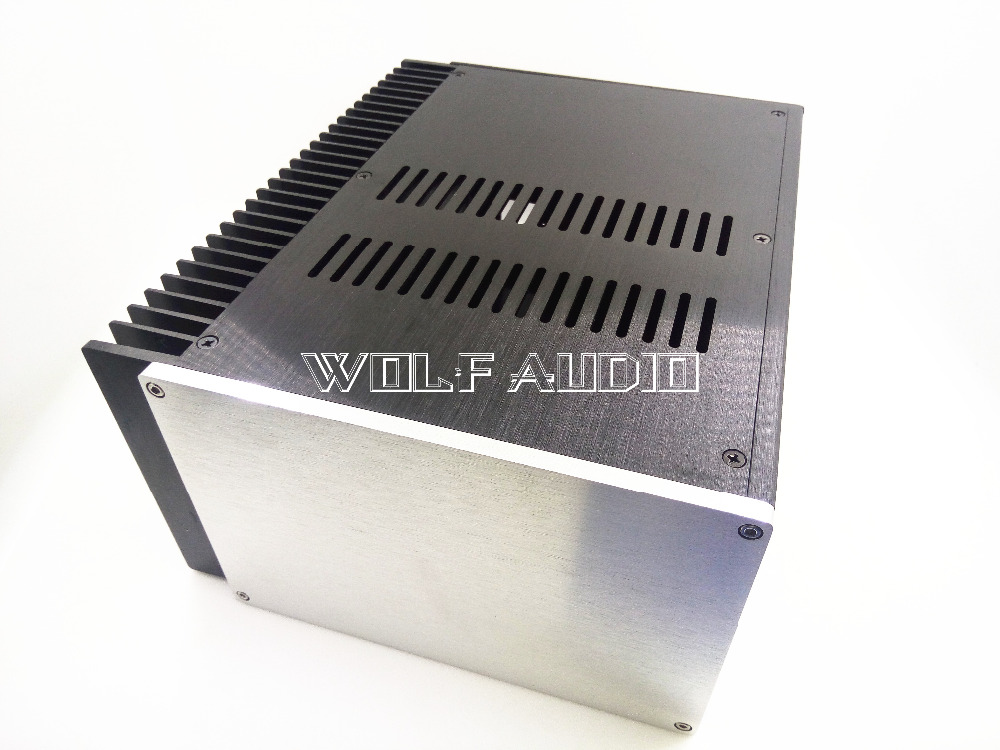 2515 Aluminum Amplifier Chassis/ Single Radiator Enclosure/ Preamp case/ Power Supply Box For Audio Amp wf1187 full aluminum audio amplifier chassis preamp enclosure tube amp box dac case 326 82 245mm with aluminum machine feet