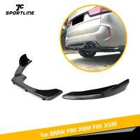 Углеродного волокна заднего бампера Диффузор для губ для BMW F85 X5 F86 X6 X5M X6M M Sport внедорожник 4 двери 2014 2018