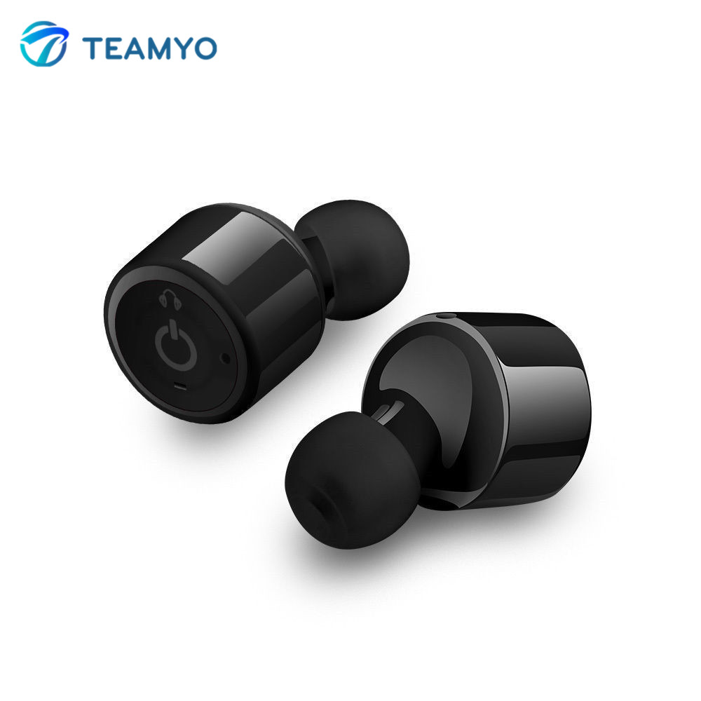 Teamyo X1T Mini Bluetooth Earphone Wireless In-ear Stereo Headset with Mic fone de ouvido bluetooth auriculares Music Earbuds original brand bluedio s6 wireless bluetooth 4 1 sports earphone stereo in ear earphone music noise isolating fone de ouvido