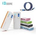 DCAE 12000 мАч Power Bank 3 USB 4 СВЕТОДИОДНЫЕ Фонари Внешний Аккумулятор powerbank Для Смартфонов Tablet Зарядное Устройство