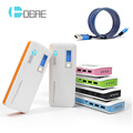 DCAE 12000mAh Power Bank 3 USB 4 LED Lights External Battery Pack powerbank For Smart Phones Tablet Fast Charger