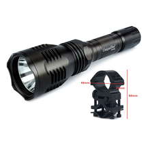 UF Flashlight To Hunt Uniquefire HS-802 XRE White / Green / Red Light LED Flashlight +Gun Mount(China)